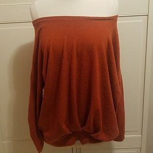 Sweaters - Burnt Orange Rust Paprika Sweater Large Fit Japan